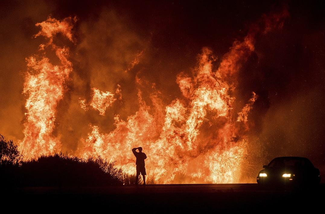 Incendio forestal en Los Ángeles, California