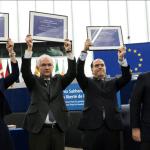 Líderes de la oposición venezolana reciben el premio Sájarov