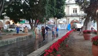 Liberan Zócalo de Oaxaca de plantones por temporada decembrina