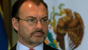 Luis Videgaray participará en la reunión de diálogo