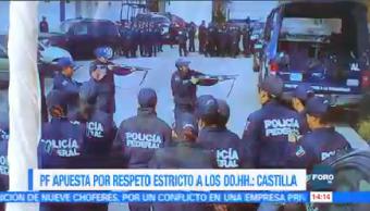 Manelich Castilla Reconoce Trabajo Mujeres Policía Federal