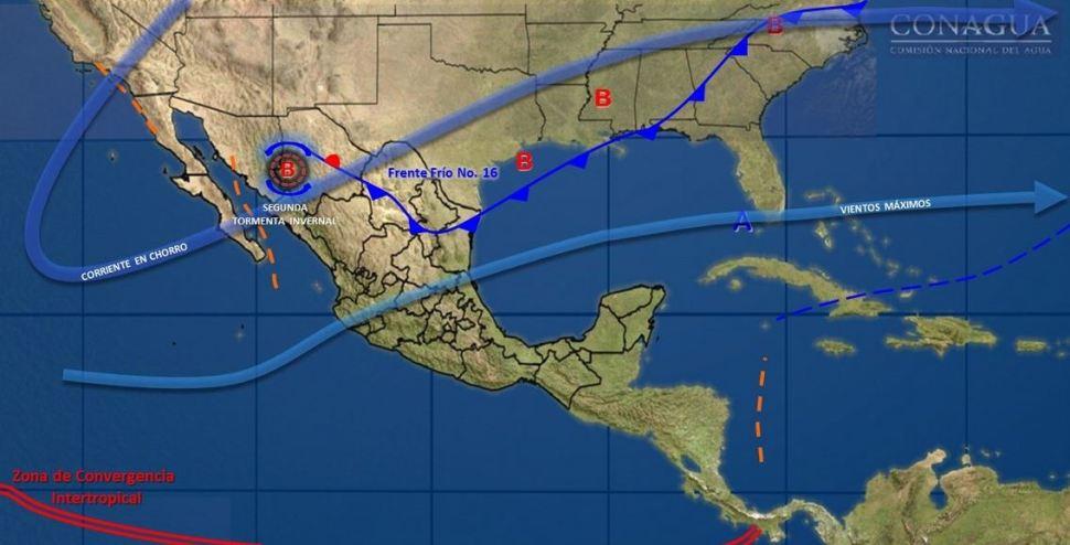 Continuarán las bajas temperaturas y las nevadas en México