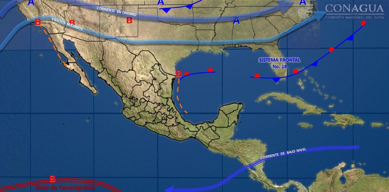 Nuevo frente frío provocará bajas temperatura en Chihuahua y Durango