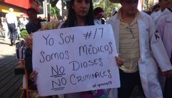 marchan en cdmx para exigir justicia por medicos asesinados
