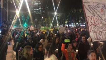 ONG´s marchan en contra de la Ley de Seguridad Interior