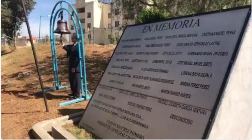 Recuerdan a víctimas de San Martín Texmelucan, Puebla