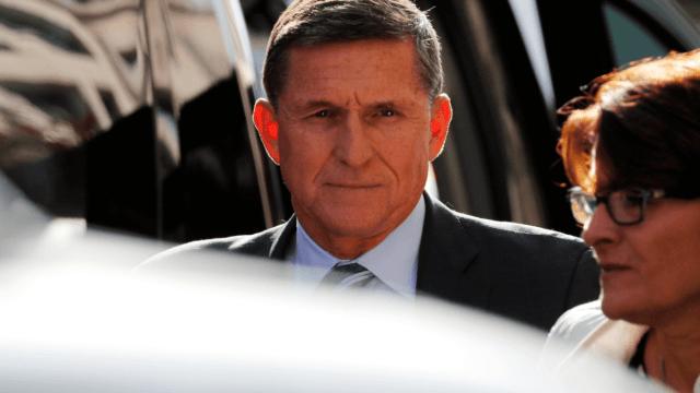 Michael Flynn, exasesor de seguridad nacional, a su llegada a la Corte