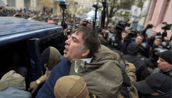 Mijaíl Saakashvili fue detenido por las fuerzas de seguridad de Ucrania