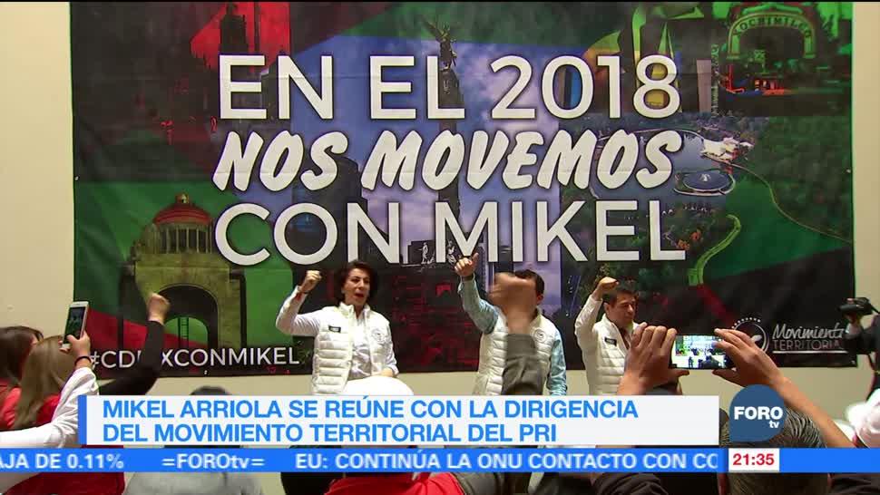 Mikel Arriola se reúne con la dirigencia del movimiento territorial del PRI