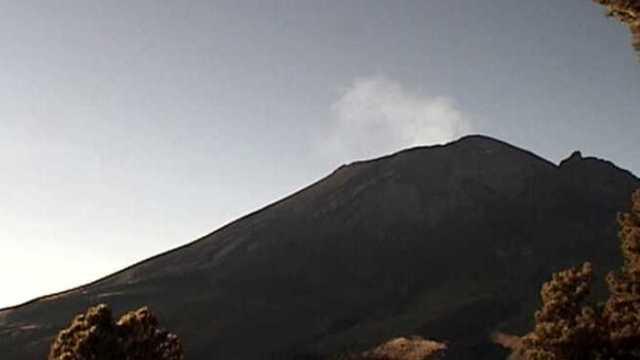 Monitoreo del volcán Popocatépetl del 1 de diciembre