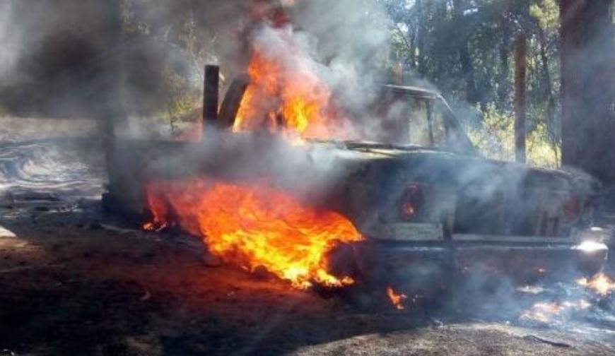 Incendio en Huitzilac, Morelos, por posible explosión de camionetas con 'huachicol'