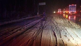 cierran carreteras nuevo leon tormenta nieve