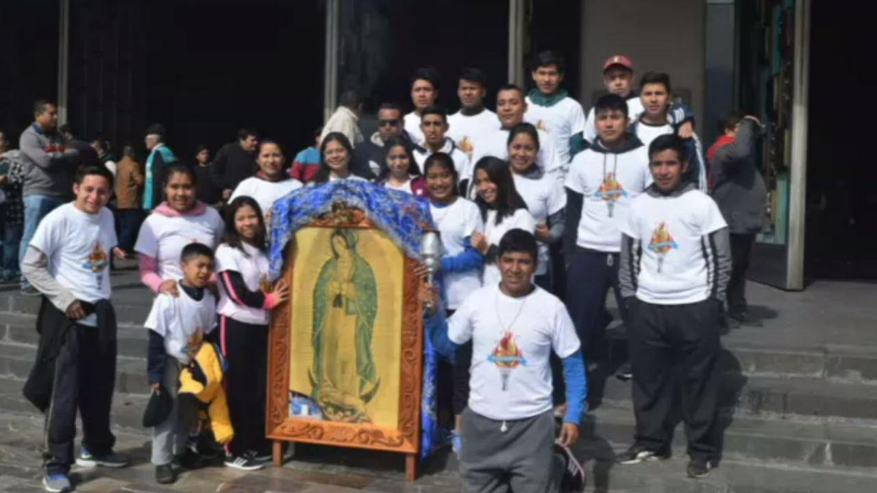 Peregrinos veracruzanos arriban a la Villa de Guadalupe