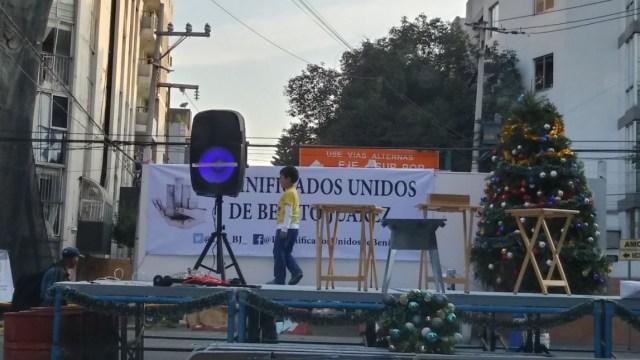 celebran posada vecinos damnificados-narvarte y del valle cdmx