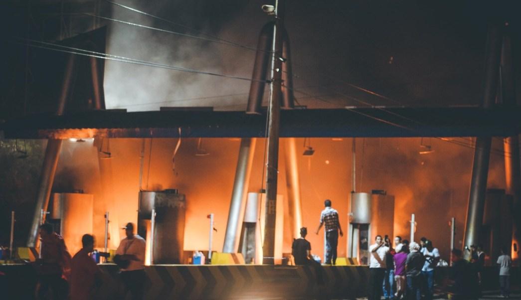 noche disturbios honduras resultados electorales