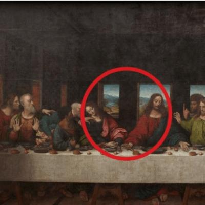 Descubren que Leonardo Da Vinci pintó parte de un cuadro en abadía belga