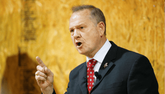 Roy Moore, candidato al Senado de EU por Alabama; está acusado de abuso sexual