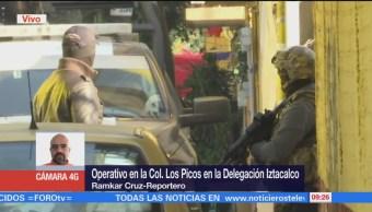 Semar y PGR realizan operativo en colonia Los Picos de Iztacalco, CDMX