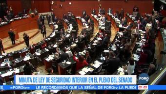 Senado discute la Ley de Seguridad Interior