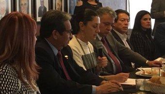 Claudia Sheinbaum sostiene encuentro con directivos de clubes de rotarios