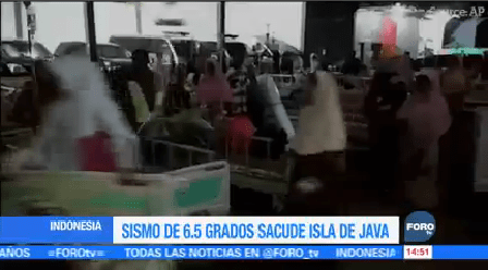 Sismo 6.5 Grados Sacude Isla Java