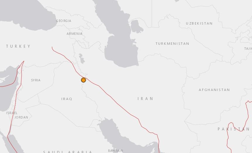 Un terremoto de magnitud 6 sacude zona fronteriza entre Irak e Irán