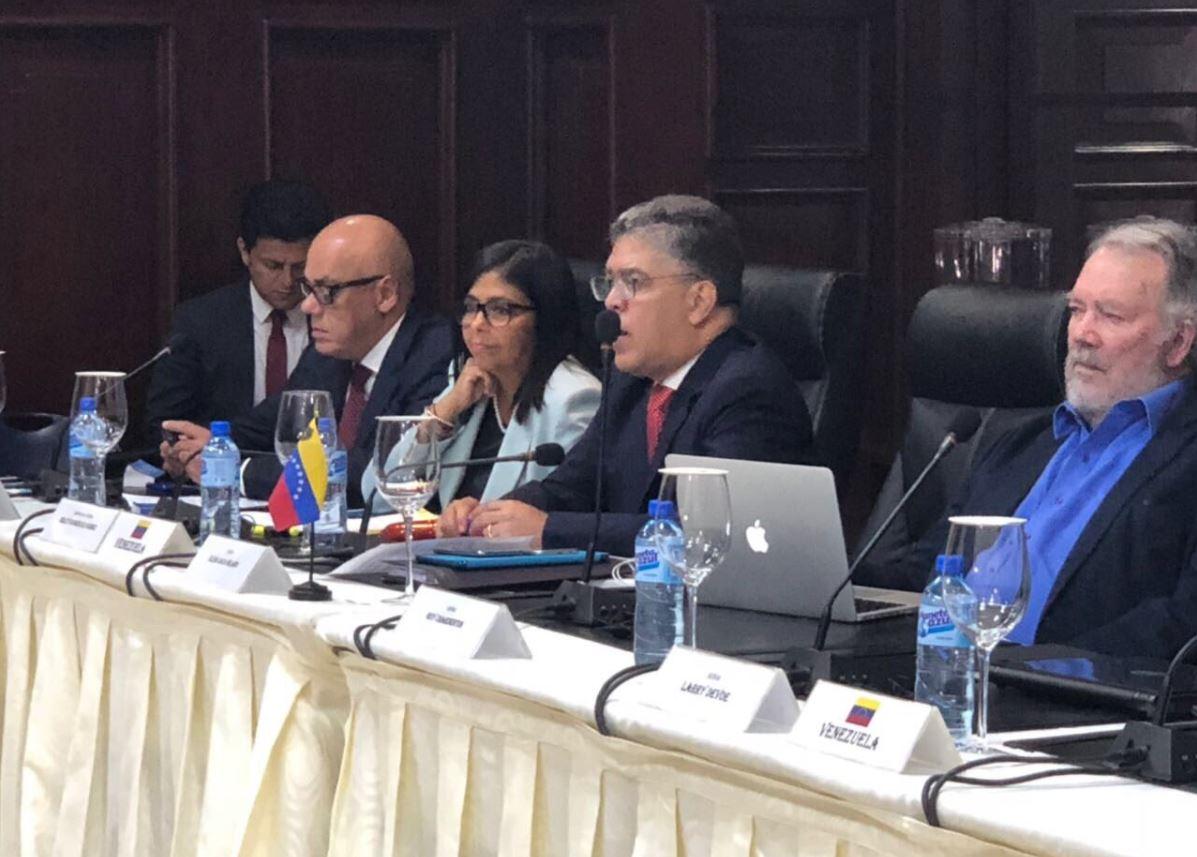Vea aquí en imágenes delegaciones integran diálogo venezolano