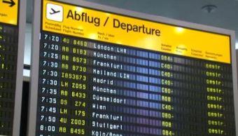 aeropuerto de francfort, alemania, cancela 170 vuelos por nevada