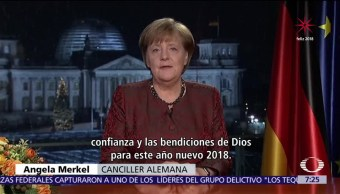 Angela Merkel, lista para los desafíos del 2018