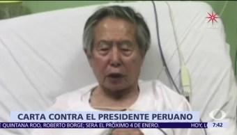 Escritores peruanos rechazan el indulto a Fujimori