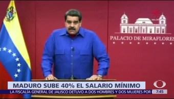Maduro aumenta 40% el salario mínimo en Venezuela