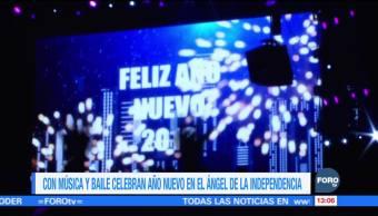 Con música y baile celebran el Año Nuevo en el Ángel