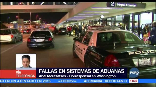 Falla en sistema de aduanas provoca demoras en aeropuertos en EU