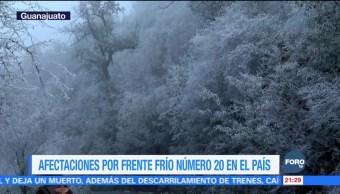 Frente frío 20 provoca afectaciones en diferentes estados del país