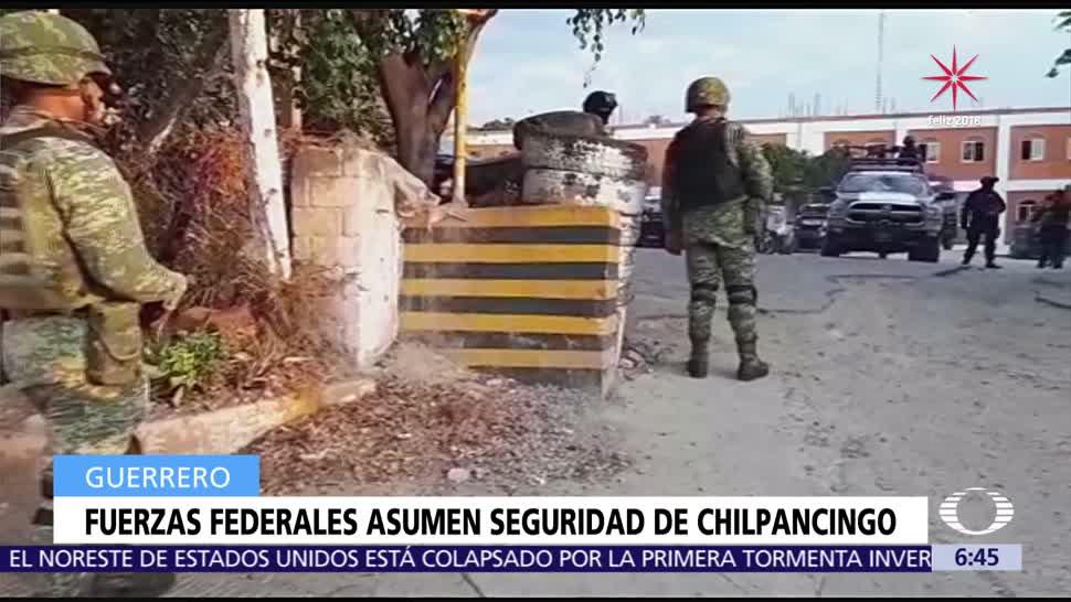 Fuerzas federales tomaron control de la seguridad en Chilpancingo