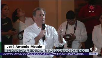 No se puede enfrentar la inseguridad con ocurrencias: Meade
