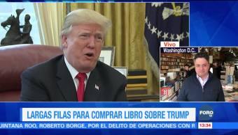 Libro sobre Trump se agota en menos de 15 minutos