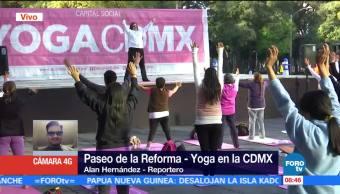 Capitalinos aprovechan paseo dominical en Reforma