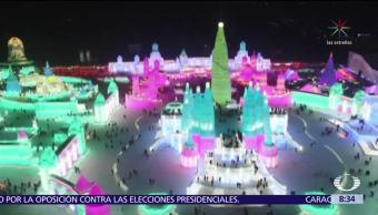China celebra el festival del hielo