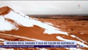 Se registra nevada en el desierto del Sahara, la segunda en 40 años