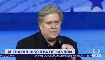La Casa Blanca rechaza las disculpas de Steve Bannon