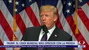 Trump fue el jefe de Estado que más buscó debilitar a la prensa en 2017