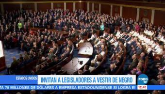 Legisladoras demócratas se vestirán de negro en discurso de Trump