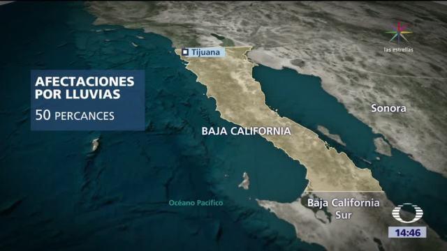 Lluvias torrenciales en Tijuana, Baja California