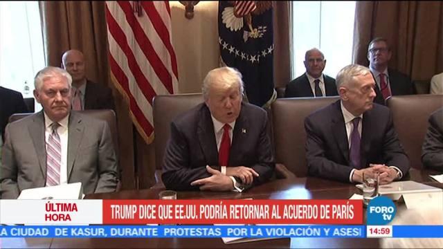 Trump: EU podría regresar al Acuerdo de París