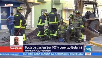 Se registra fuga gas natural en la colonia 24 de Abril