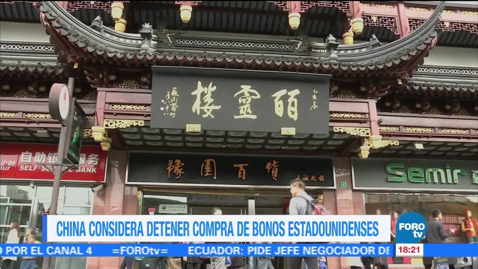 China recomienda detener compra de bonos de EU