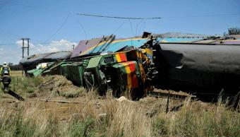 Accidente de tren en Sudáfrica. (AP)