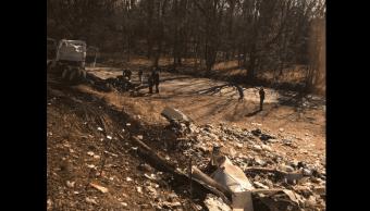 Accidente de tren y camión en Virginia, EU. (Reuters)