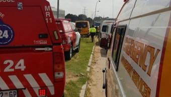 accidente tren deja alrededor 200 heridos johannesburgo